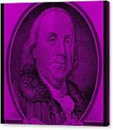 Ben Franklin In Purple Canvas Print