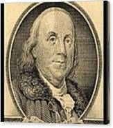 Ben Franklin In Sepia Canvas Print