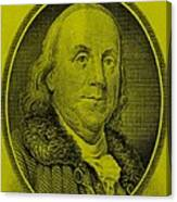 Ben Franklin In Yellow Canvas Print