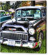 Black And White Chevy Canvas Print
