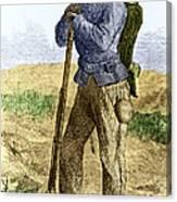 Black Civil War Soldier Canvas Print
