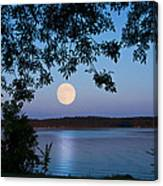 Blue Moon Of August  Canvas Print