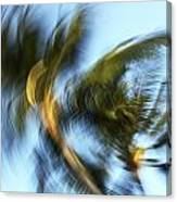 Blurred Palm Trees Canvas Print