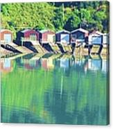Boat House Reflections Canvas Print