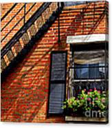 Boston House Fragment Canvas Print