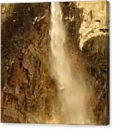 Bridal Veil Falls At Yosemite Canvas Print
