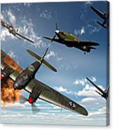 British Hawker Hurricane Aircraft Canvas Print