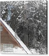 Cabin In The Winter Canvas Print