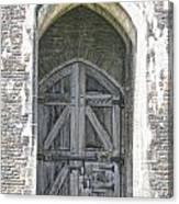 Caerphilly Castle Gate Canvas Print