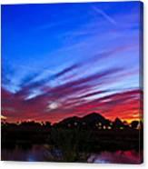 Camelback Mountain At Sunset Canvas Print