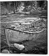 Canoe On The Thornapple River Canvas Print