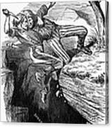 Cartoon: Civil War, 1862 Canvas Print