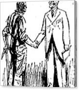 Cartoon: Fdr & Workingmen Canvas Print