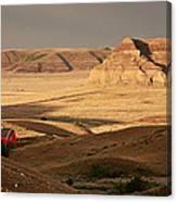 Castle Butte In Big Muddy Valley Of Saskatchewan Canvas Print