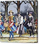 Charles I's Last Walk Canvas Print