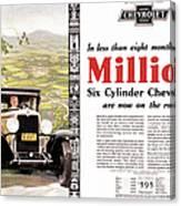 Chevrolet Ad, 1929 Canvas Print