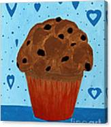Chocolate Chip Cupcake Canvas Print