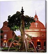Christ Church In Melaka In Malaysia Canvas Print
