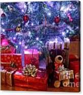 Christmas Tree And Presents Canvas Print