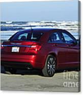 Chrysler At Beach Canvas Print