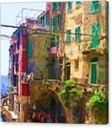 Cinque Terre Village of Riomaggiore Canvas Print