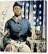Civil War: Black Soldier Canvas Print