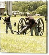 Civil War Reenactment Canvas Print