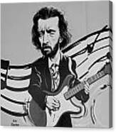 Clapton In Black And White Canvas Print