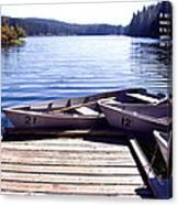 Clear Lake At Mckenzie Pass Canvas Print