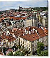 Clock Tower View - Prague Canvas Print