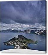 Clouds Over Crater Lake Canvas Print