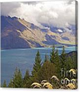 Clouds Over The Mountains Canvas Print