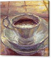 Coffee Cup Still Life Painting Canvas Print