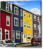 Colorful Houses In St. John's Newfoundland Canvas Print