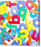 Colorful Letters Canvas Print