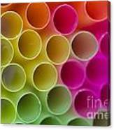 Colorful Straws Canvas Print