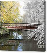 Composite Of Fall And Winter Canvas Print