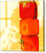 Conceptual Image Of Genetically-engineered Fruit Canvas Print