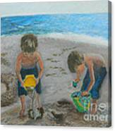 Cool Water Warm Sand Canvas Print