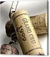Corks Of French Wine Canvas Print