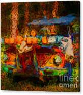 Country Pumpkin Fun Canvas Print