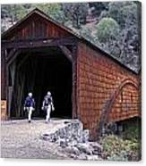 Covered Bridge Walkers Canvas Print
