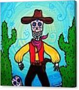 Cowboy Dia De Los Muertos Canvas Print