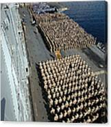 Crew Aboard The Amphibious Assault Ship Canvas Print