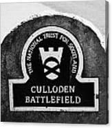 Culloden Moor Battlefield Site Highlands Scotland Canvas Print