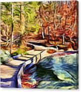 Cunningham Falls Walkway Canvas Print