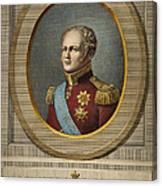 Czar Alexander I Of Russia Canvas Print