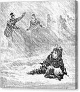 Dakota Blizzard, 1888 Canvas Print