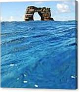 Darwin's Arch By Sea Level Canvas Print