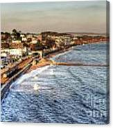 Dawlish Sea Wall Canvas Print